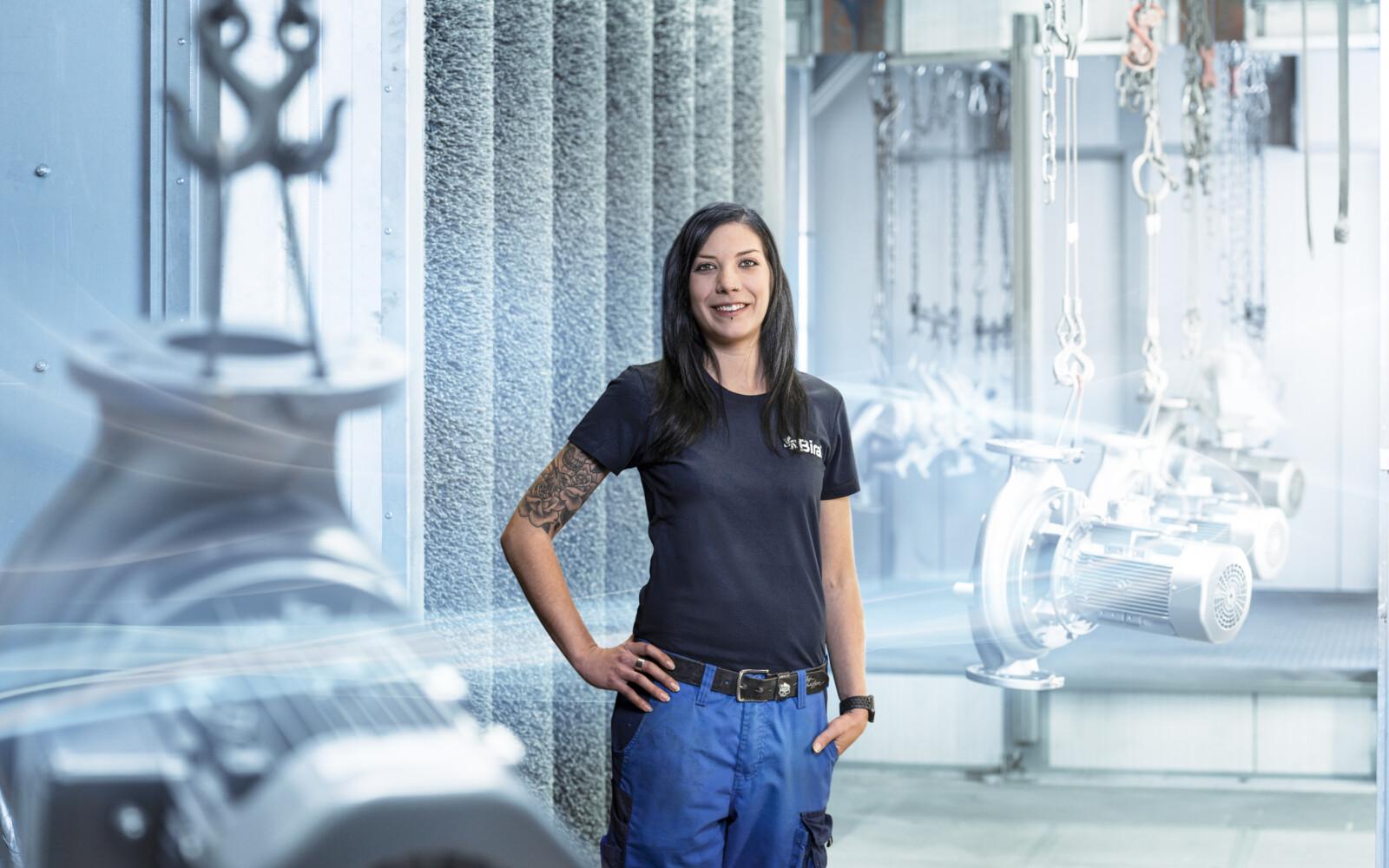 Stefanie Wetli, Mitarbeiterin Reparatur